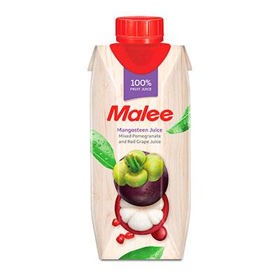 Сок Malee / Мали мангостин и смесь фруктов 0.33 литра, 12 шт. в уп.