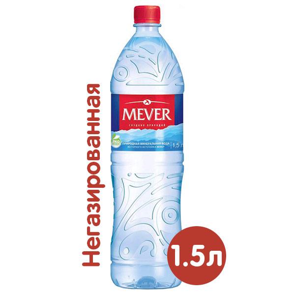 Вода Mever из горного источника 1.5 литра, без газа, пэт, 6 шт. в уп. фото