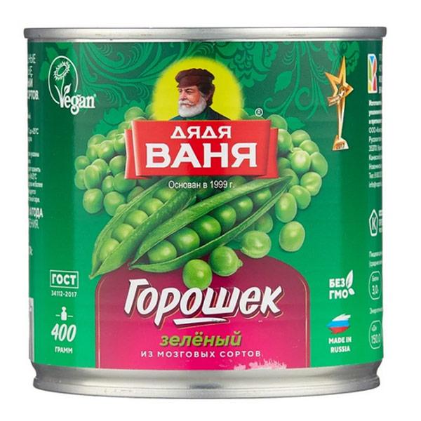 Горошек Дядя Ваня зеленый 400 гр фото
