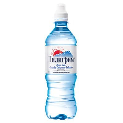 Вода Пилигрим 0.5 литра, спорт, без газа, пэт, 8шт. в уп.