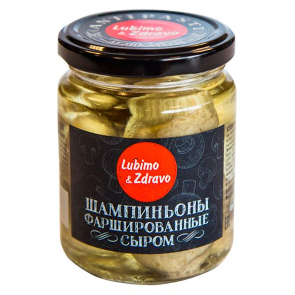 Шампиньоны Любимо и здраво фаршированные сыром Lubimo & Zdravo 245 мл
