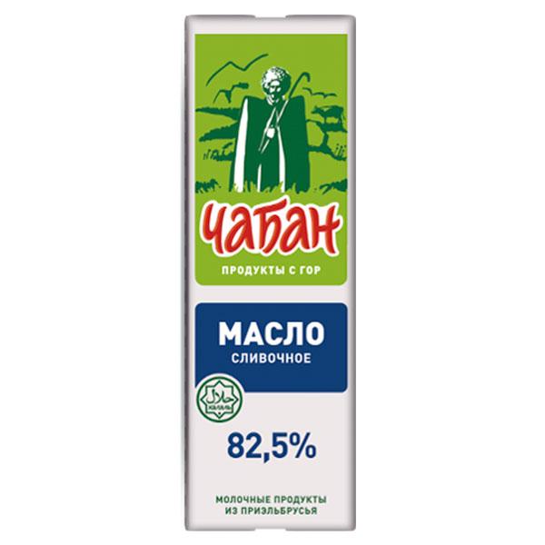 Масло сливочное Чабан 82,5% БЗМЖ 450 гр