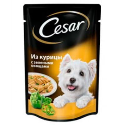 Корм для собак Cesar из курицы с зелеными овощами 100 гр фото