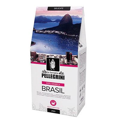 Кофе La Famiglia Pellegrini Brasil молотый 250 гр фото