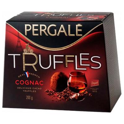 Конфеты Pergale Truffles трюфели с коньяком 200 гр фото