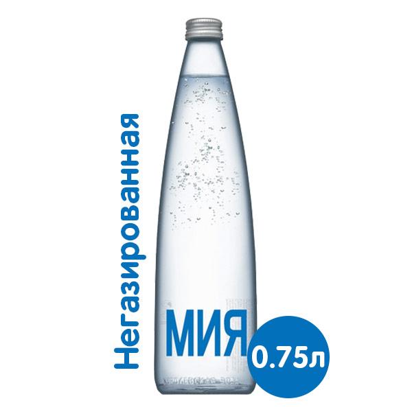 Вода Мия 0,75 литра, без газа, стекло, 12 шт. в уп. фото