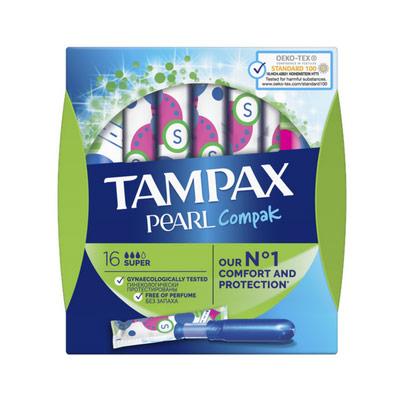 Тампоны Tampax Compak Pearl Super 3 капли 16 шт фото