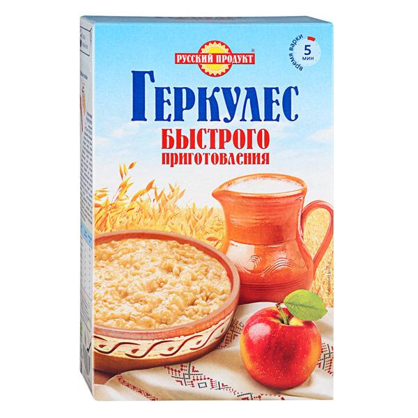 Хлопья овсяные Русский продукт Геркулес быстрого приготовления 420 гр фото