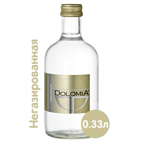 Вода Dolomia Exclusive 0.33 литра, без газа, стекло, 20 шт. в уп.