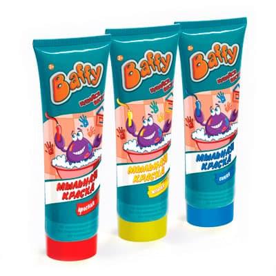 Краска Baffy мыльная для ванны в ассортименте 75 мл