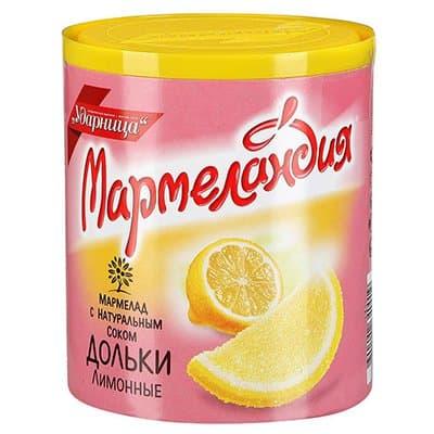 """Мармелад """"Мармеландия"""" лимоные дольки 250 гр (2шт.)"""