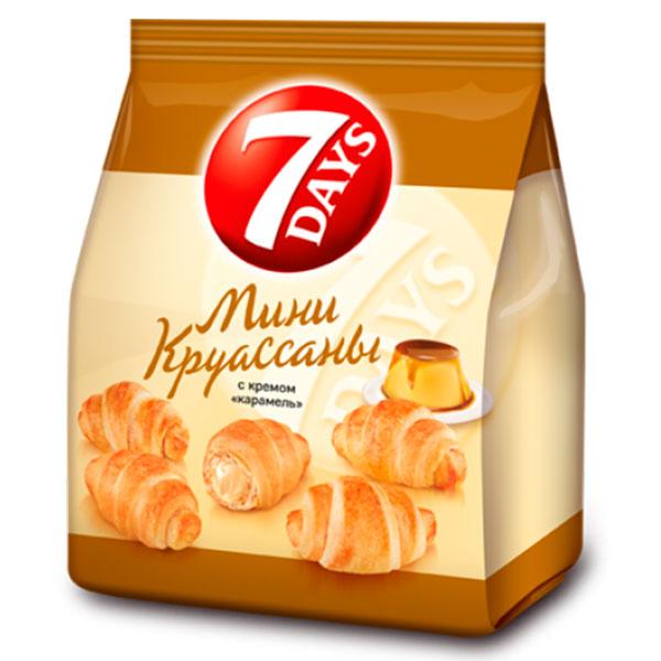Круассан 7Days Мини с кремом Карамель 300 гр
