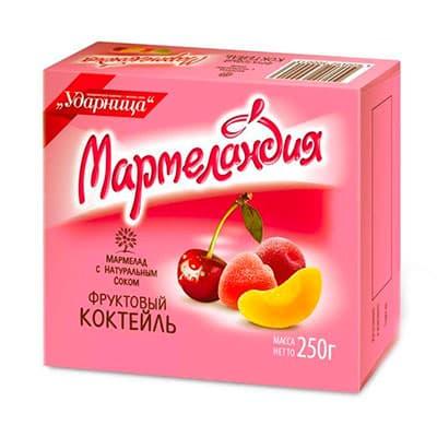 Мармелад Мармеландия фруктовый коктейль 250 гр фото