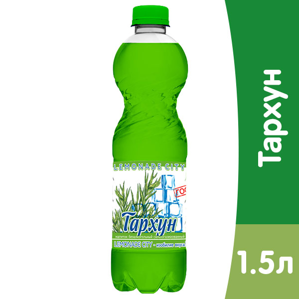 Lemonade City Тархун, 1,5 литра, газ, пэт, 6 шт. в уп фото