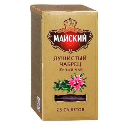 Чай черный Майский Душистый Чабрец 25 пак фото