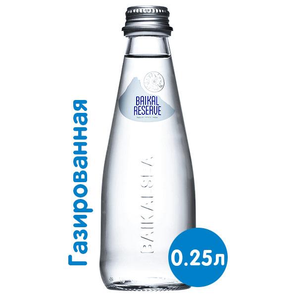 Вода Baikal Reserve 0.25 литра, газ, стекло, 24 шт. в уп. фото