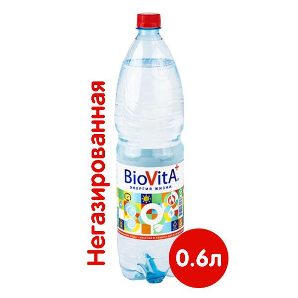 Вода Биовита 0.6 литра, без газа, пэт, 12 шт. в уп.