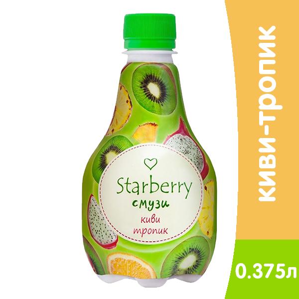 Напиток Смузи Starberry Киви-Тропик 0,375л пэт (6шт) фото