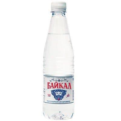 Вода Байкал 0.5 литра, без газа, пэт, 12шт. в уп.