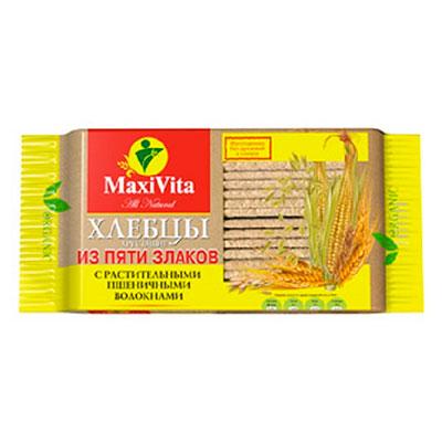 Хлебцы с растительными пшеничными волокнами MaxiVita Полезноff 150 гр