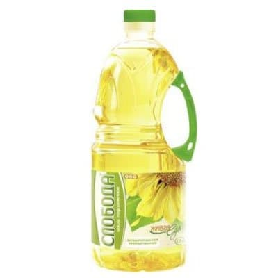 Масло Слобода подсолнечное рафинированное 1.8 литра