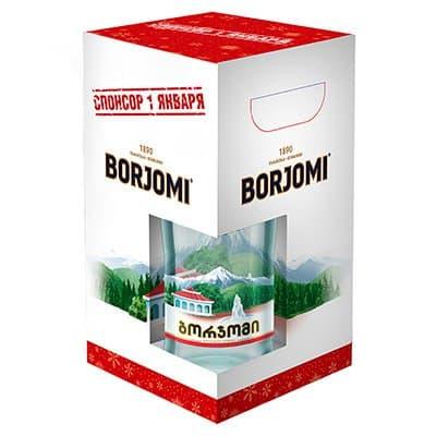 Вода Боржоми 0.5 литра, гофра, газ, стекло, 4шт. в уп.