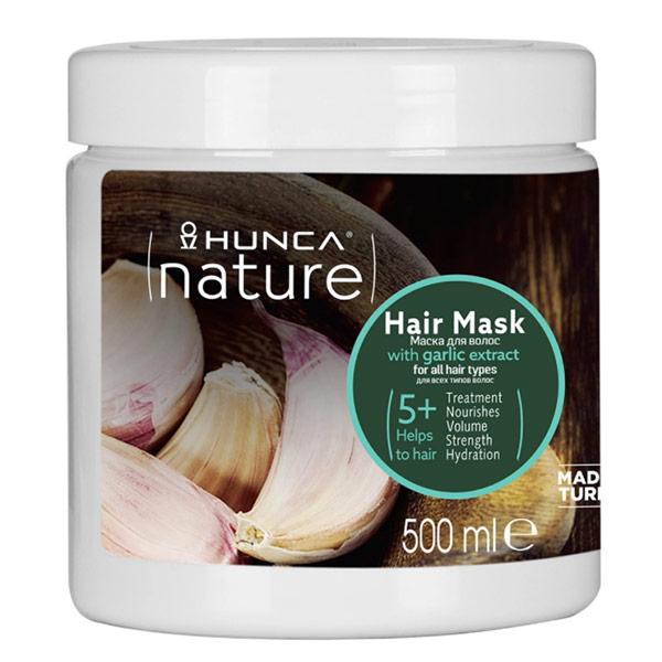 Маска для всех типов волос Hunca Nature с экстрактом чеснока 500 мл