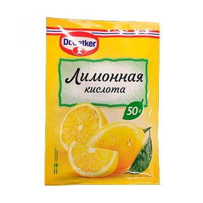Лимонная кислота Dr. Oetker пищевая 50 гр