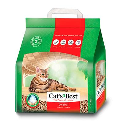 Наполнитель Cats Best Оriginal древесный комкующийся 5л 2.1 кг фото