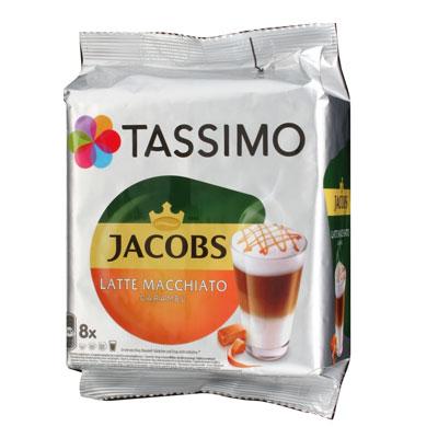 Кофе в капсулах Tassimo Jacobs Латте Карамель Макиато (8шт) фото