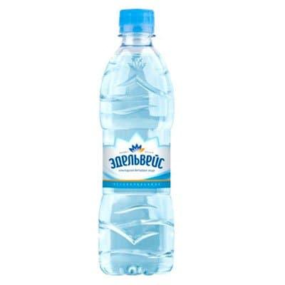 Вода Эдельвейс 0.5 литра, без газа, пэт, 12шт. в уп.