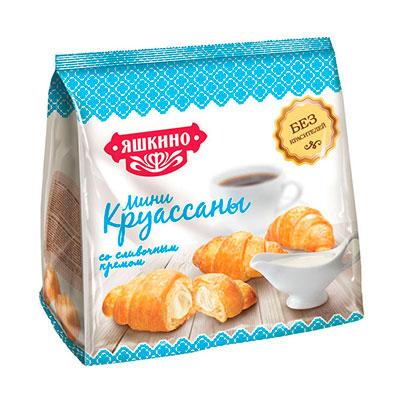 Мини-круассаны Яшкино со сливочным кремом 180 гр