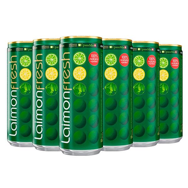 Напиток Laimon Fresh Sleek 0.33 литра, газ, ж/б, 12 шт. в уп.
