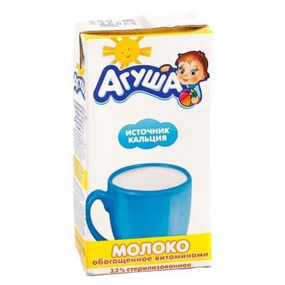 Молоко Агуша Витамины А/С 3,2% БЗМЖ 0.5 литра, 15 шт. в уп. фото