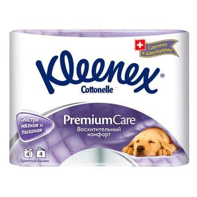 Туалетная бумага Kleenex Cottonelle Premium Care 4-х слойная (4шт.)