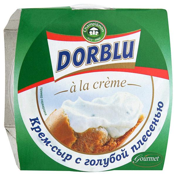 Крем-сыр Dorblu a la creme с голубой плесенью БЗМЖ 80 гр