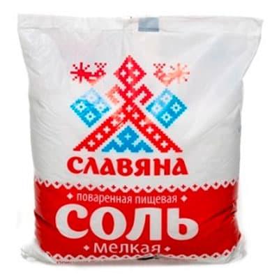 Соль Славяна мелкая поваренная пищевая 1 кг фото