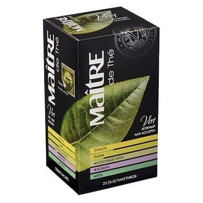 Чай Maitre Ассорти Классик зеленый (25пак)