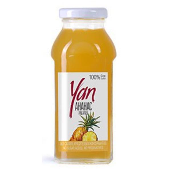 Сок YAN ананасовый 0.25 литра стекло 12 шт. в уп..