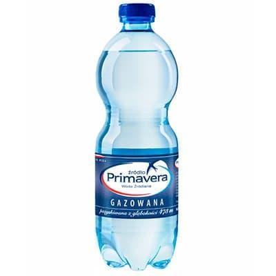 Вода Primavera 0.5 литра, газ, пэт, 6шт. в уп.