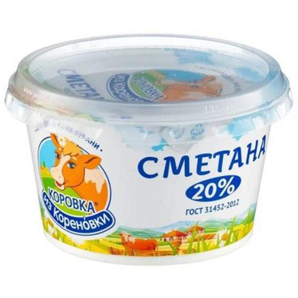 Сметана Коровка из Кореновки 20% БЗМЖ 180 гр