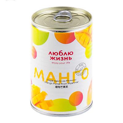 Пюре из манго Люблю жизнь натуральное без сахара ж/б 430 гр