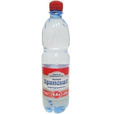 Вода Еринская экстра структурированная 0.6 литра, без газа, пэт, 8шт. в уп.