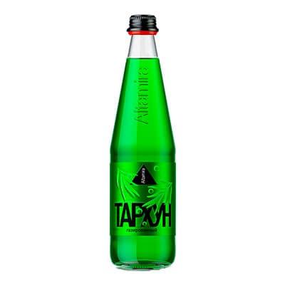 Купить со скидкой Лимонад Altamira тархун 0.5 литра, газ, стекло, 12 шт. в уп.
