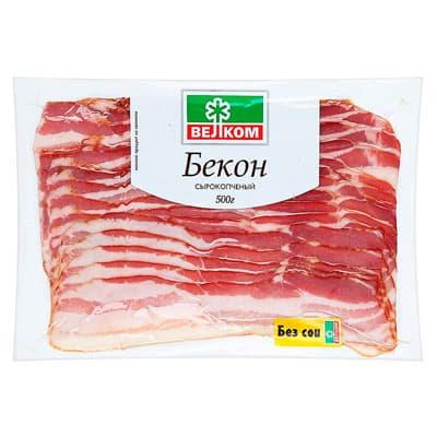 Бекон Велком сырокопченый 500 гр