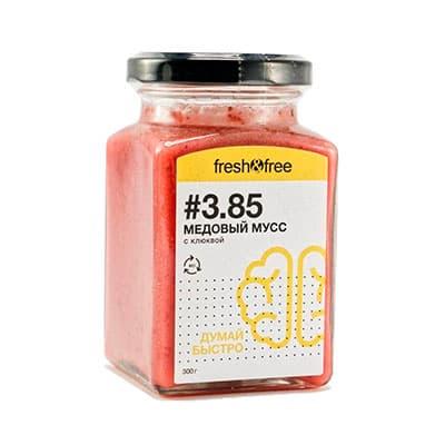 Купить со скидкой Медовый мусс Fresh&Free Думай быстро с клюквой 300 гр