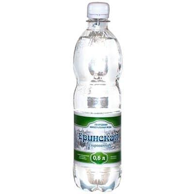Вода Еринская природная столовая 0,6л. газ пэт (8шт.)