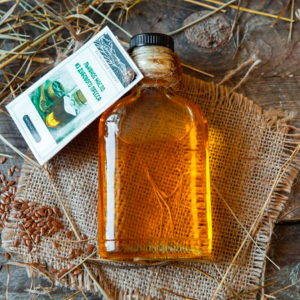 Масло льняное из дубового пресса (Ферма ИП Асламов А.) 100 мл