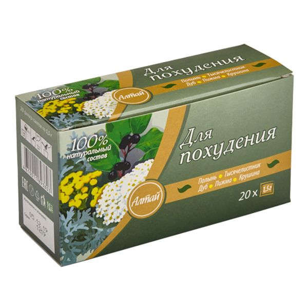 Чай травяной Алтай для похудения 20 пак