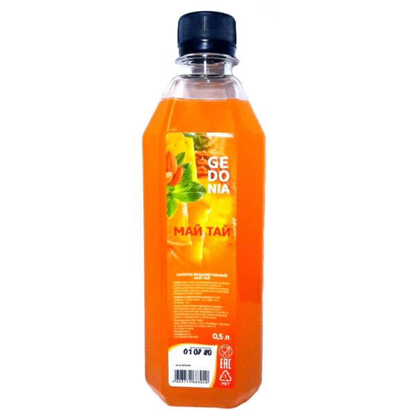 Напиток Gedonia Май тай 0.5 литра, без газа, пэт, 20 шт. в уп.